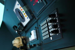 Old ATC console. Air traffic control communication and navigation equipment Stock Images