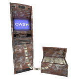 Old atm cash machine with old Casket Royalty Free Stock Photo