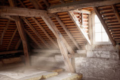 Old attic. Of an ancient house royalty free stock photos