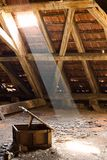 Old attic of a house, hidden secrets Royalty Free Stock Photography