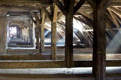 Old attic of a house, hidden secrets Royalty Free Stock Images