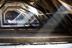 Old attic of a house, hidden secrets Stock Images