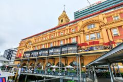 The historic Ferry Building, Auckland, New Zealand stock images