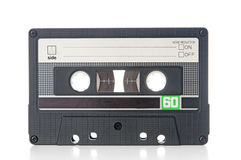 Old audio cassette closeup Stock Photos