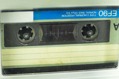 Old audio cassette on a very close Royalty Free Stock Photos