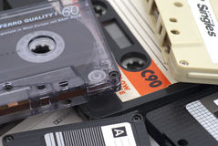 Old audio cassettes Royalty Free Stock Image