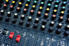 Old audio mixer Royalty Free Stock Images