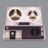 Old Audio Player. Old Time Audio Player that uses tape wheels stock illustration