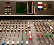 Old audio studio mixer Stock Images