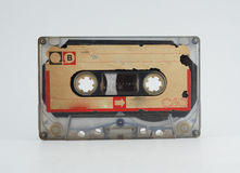 Old audio tape on white background. Old audio tape on white background Royalty Free Stock Image