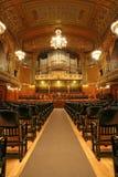 Old auditorium with organ Stock Photos