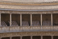 Old auditorium. Theater at The Palace of Charles V, Alhambra, Granada, Spain Stock Photography