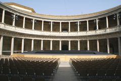 Old auditorium. Theater at The Palace of Charles V, Alhambra, Granada, Spain Stock Photo