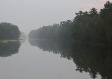 Foggy Old Ausable Channel Royalty Free Stock Photo