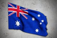 Old australian flag. 3d rendering of an old australian flag Stock Photography