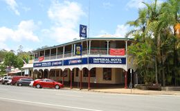 Australia, Qld/Eumundi: Old Hotel and Pub Stock Photo