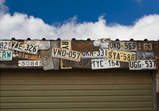 Old Australian number plates Royalty Free Stock Images