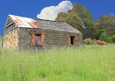 Old Australian settlers blue stone homestead. In country setting Royalty Free Stock Photos