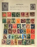 Old Australian Stamps Stock Images