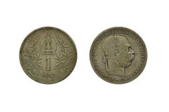 Old austrian coin Royalty Free Stock Photos