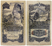 Old Austrian Money Royalty Free Stock Image