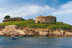Old Austro-Hungarian fort Mamula. Montenegro Stock Photo