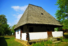 Old authentic Romanian house. Beautiful nature spot with traditional old wooden house Royalty Free Stock Photography