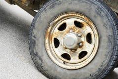 Old auto wheel Royalty Free Stock Photo