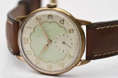 An old and automatic wristwatch. Shot Stock Images