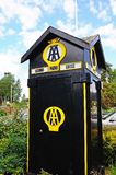 Old Automobile Association phone box, Eardisland. Stock Photography