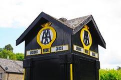 Old Automobile Association phone box, Eardisland. Royalty Free Stock Images