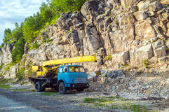 Old automobile crane Royalty Free Stock Photography