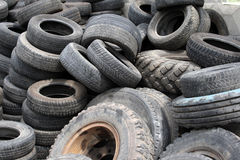 Old automobile tires Stock Photography