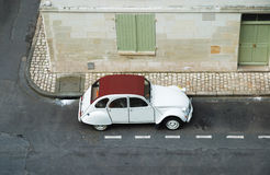 Old automobile tuning in empty street Stock Photography