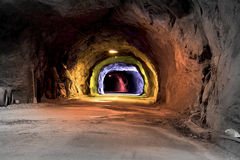The old automobile tunnel Stock Photo