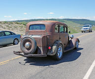 An old automobile at yellowstone park Royalty Free Stock Photo
