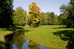 Old autumn park Royalty Free Stock Image