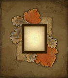 Old autumn photo frame Stock Images