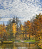 Old autumnal park and ancient Castle. Royalty Free Stock Photography