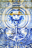 Old azulejos on a building of Lisbon, Portugal Stock Image