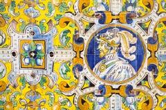 Old azulejos of Reales Alcazares, Sevilla Stock Photo
