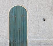 Old azure door Stock Photography