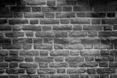 Old b&w stone wall Royalty Free Stock Photos