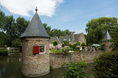 Old Baarland castle with moat Royalty Free Stock Image