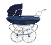 Old baby carriage. Old fashioned baby carriage with spike wheels Royalty Free Illustration