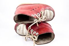 Old baby shoes Royalty Free Stock Photography