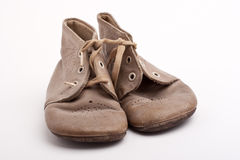 Old baby shoes Stock Image
