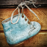 Old baby shoes Stock Images