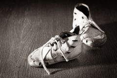Old baby shoes Stock Photography