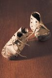Old baby shoes Royalty Free Stock Images